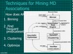 techniques for mining md associations63
