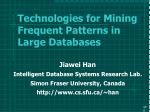 technologies for mining frequent patterns in large databases100