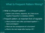 what is frequent pattern mining