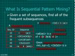 what is sequential pattern mining