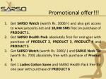 promotional offer98