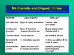 mechanistic and organic forms