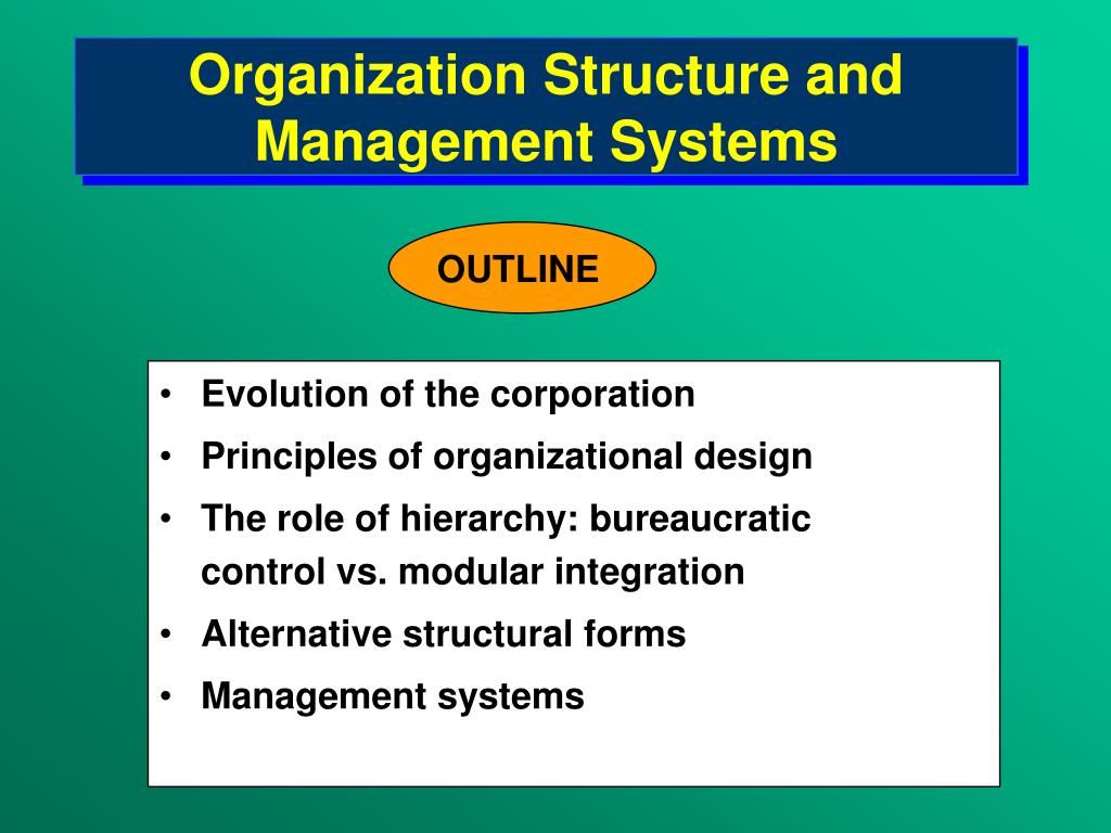 organization structure and management systems l.