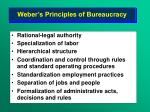 weber s principles of bureaucracy