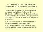 la drem en el sector energia generacion de energia electrica