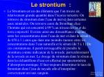le strontium