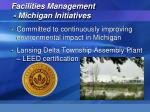facilities management michigan initiatives
