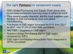 the right partners for component supply