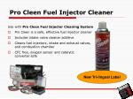 pro cleen fuel injector cleaner