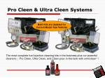 pro cleen ultra cleen systems