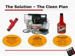 the solution the cleen plan6