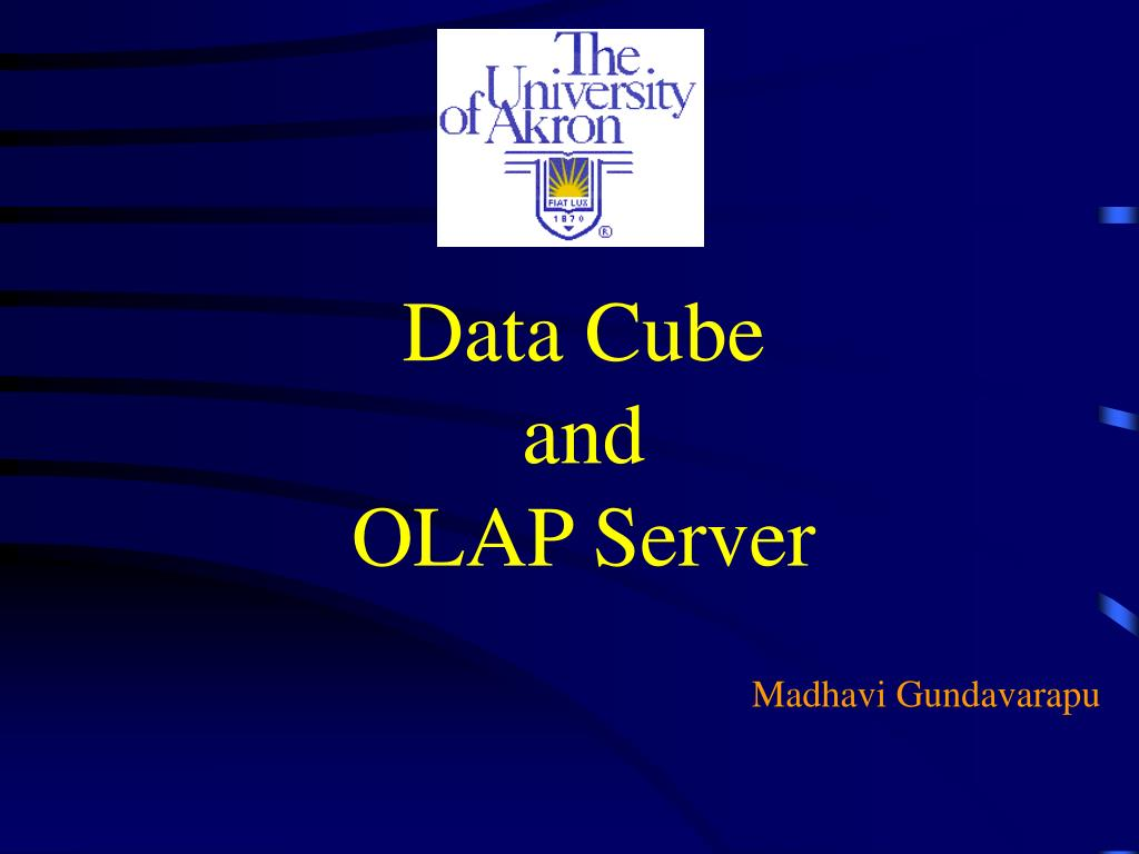 data cube and olap server l.