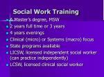 social work training
