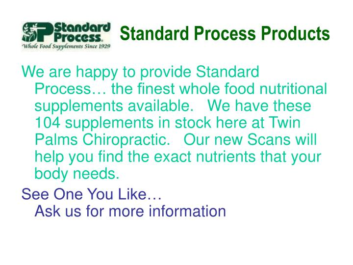 standard process products n.
