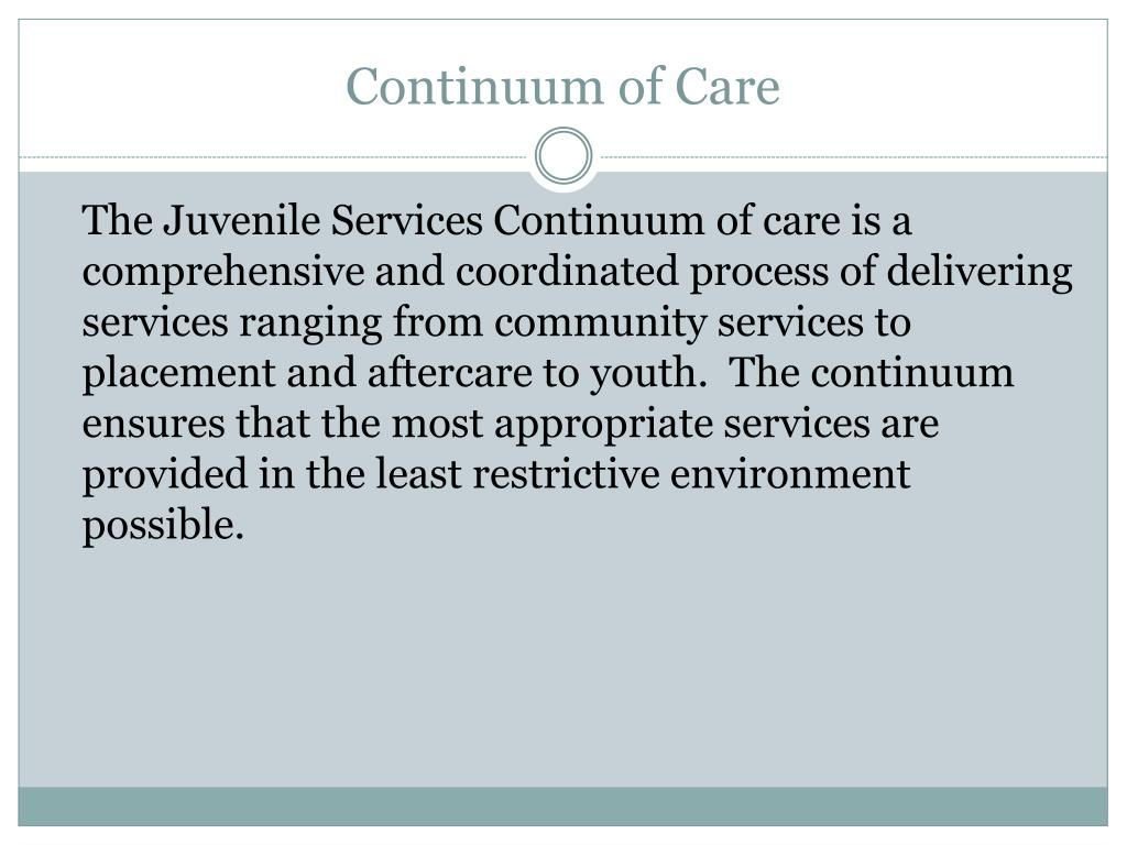 continuum of care l.