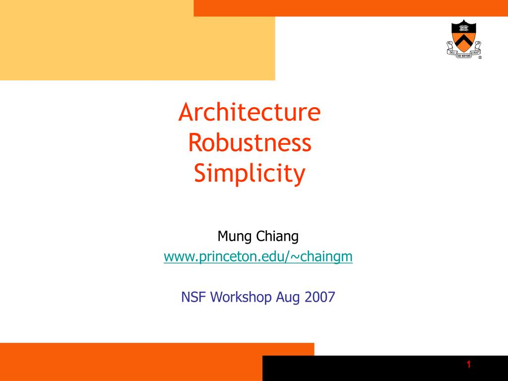 architecture robustness simplicity l.