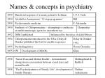 names concepts in psychiatry