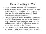 events leading to war