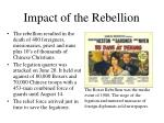 impact of the rebellion