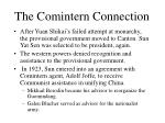 the comintern connection