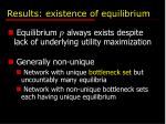 results existence of equilibrium