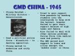 gmd china 1945