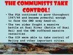 the communists take control