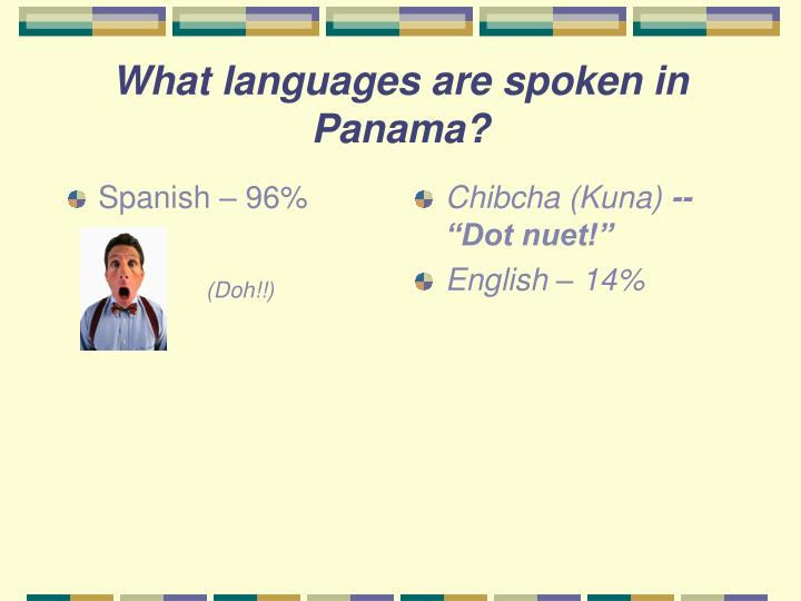 what is the language spoken in panama
