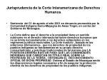 jurisprudencia de la corte interamericana de derechos humanos
