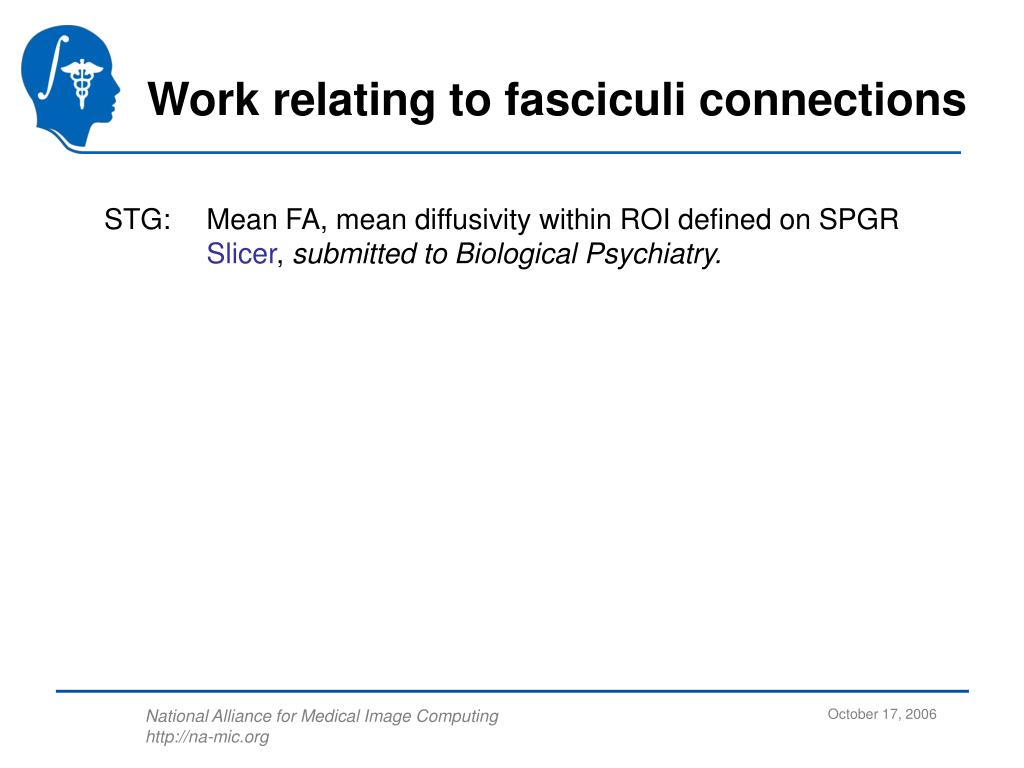 Work relating to fasciculi connections