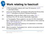 work relating to fasciculi