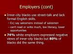 employers cont