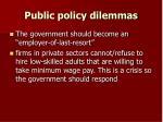 public policy dilemmas