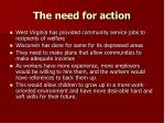 the need for action