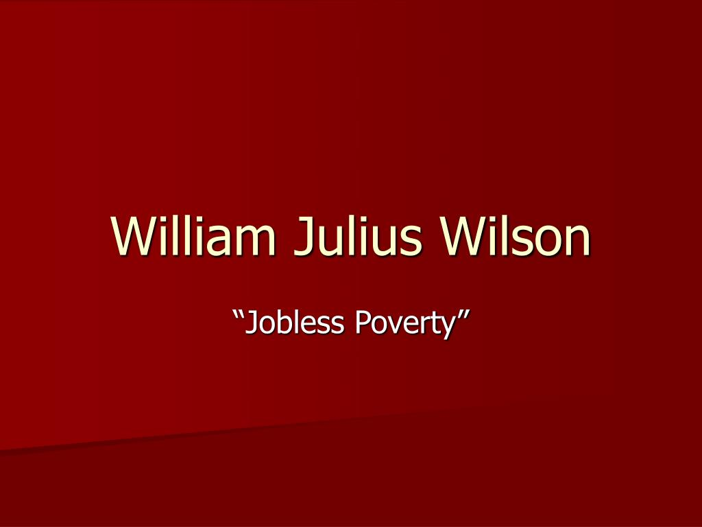 william julius wilson l.