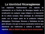 la identidad nicarag ense