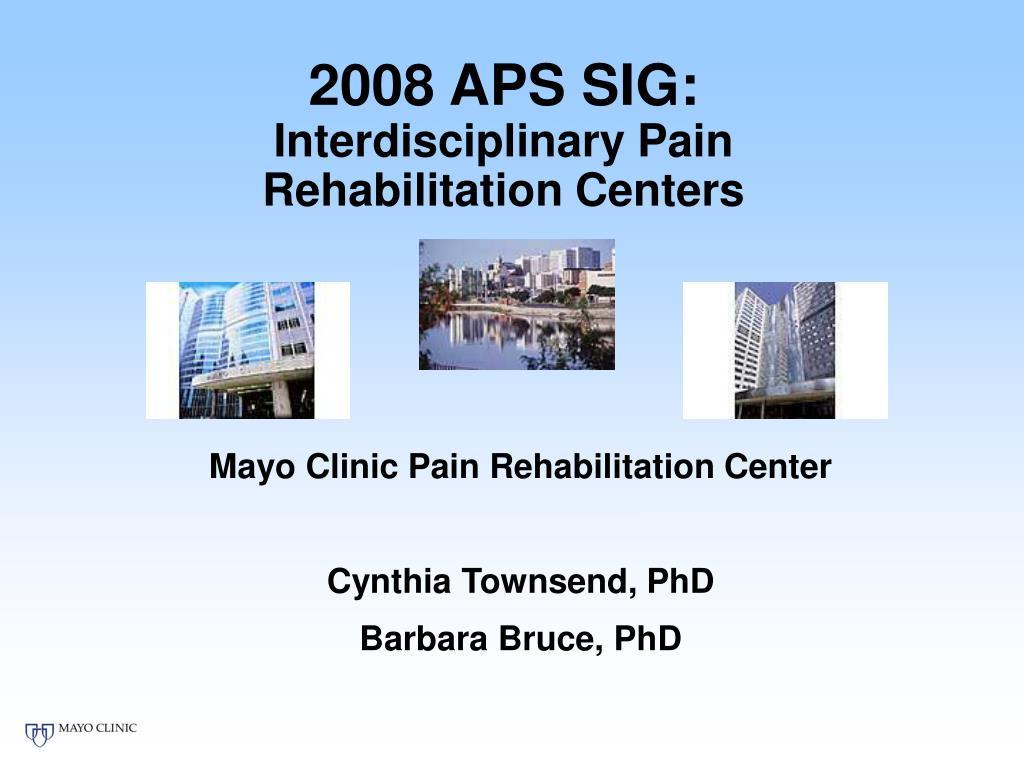 2008 aps sig interdisciplinary pain rehabilitation centers l.