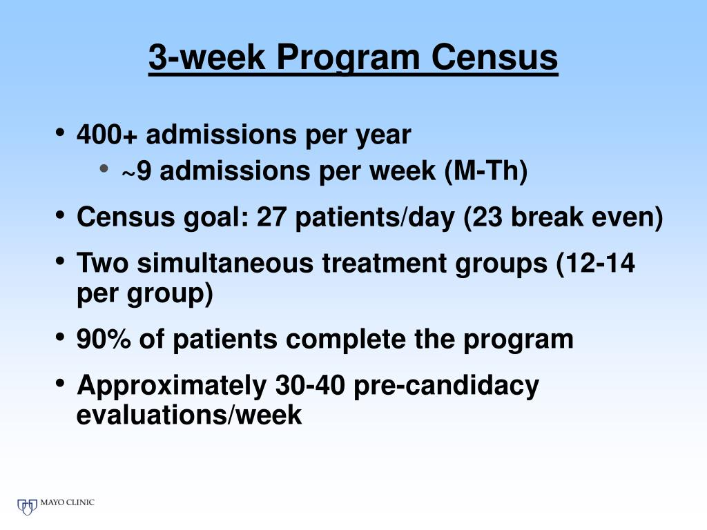 3-week Program Census