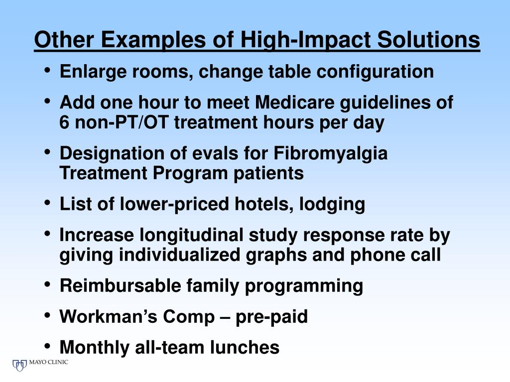 Other Examples of High-Impact Solutions