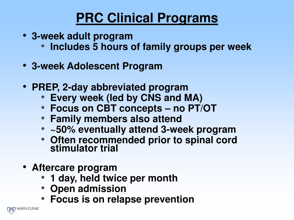 PRC Clinical Programs