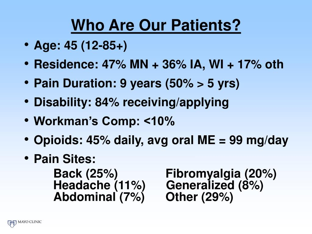 Who Are Our Patients?