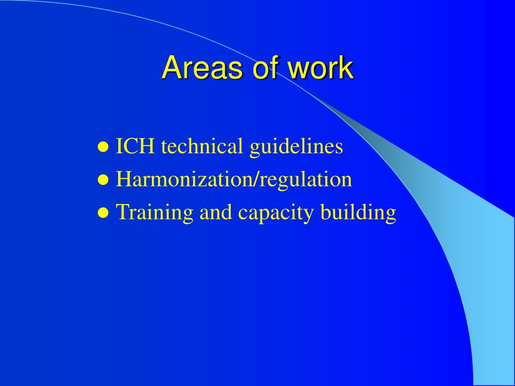 Areas of work