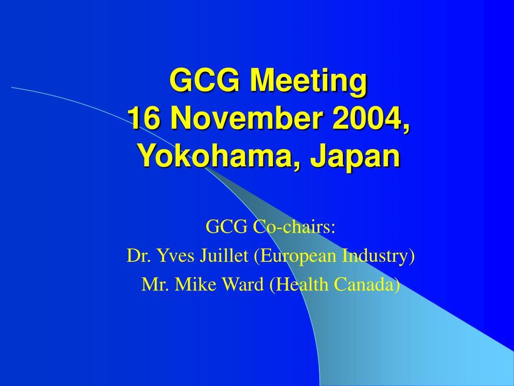 GCG Meeting