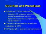 gcg role and procedures