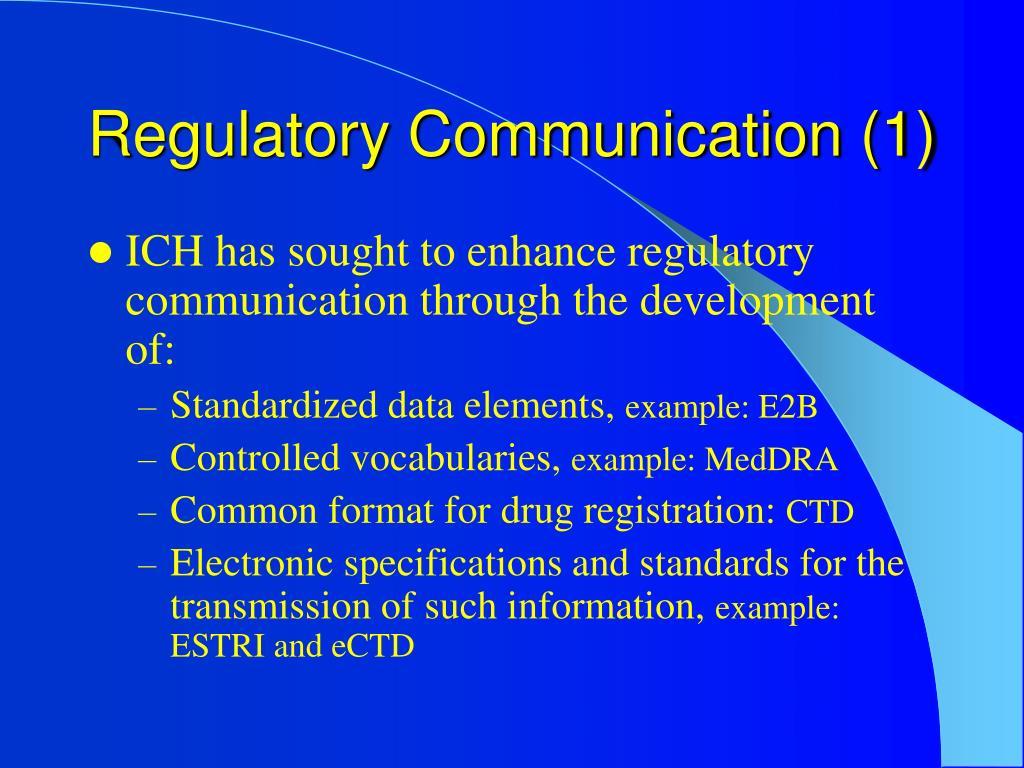 Regulatory Communication (1)