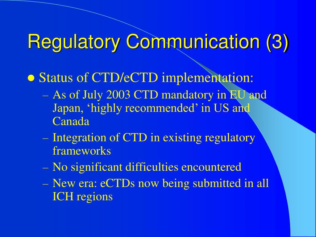 Regulatory Communication (3)