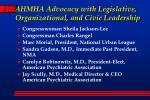 ahmha advocacy with legislative organizational and civic leadership7