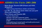 ahmha site visits 2005 2006