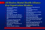 all healers mental health alliance key organization members