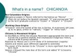 what s in a name chicano a